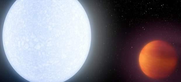 Reconstrucción del planeta Kelt-9b.