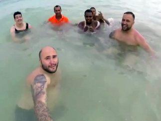 'Selfie' con amigos en Punta Cana