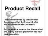 Banksy cancela su acción por las elecciones