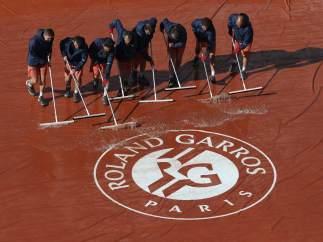 Lluvia en Roland Garros