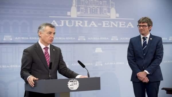 Iñigo Urkullu y Gorka Urtaran