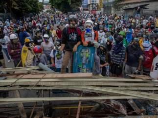 Violentas protestas en Caracas