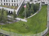 Explosión en la embajada de EE UU en Kiev
