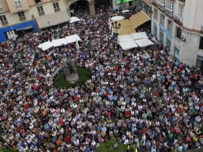 Manifestación en La Línea