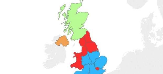Mapa de las elecciones del Reino Unido