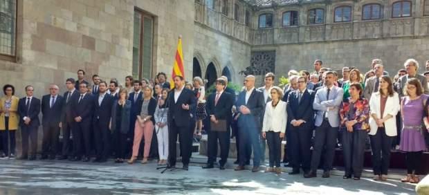 El Govern reunido en el Pati dels Tarongers
