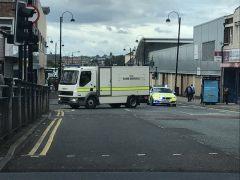 Artificieros de la Policía inglesa en Newcastle
