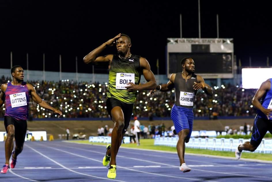 Usain Bolt se lleva la victoria en su última carrera en Jamaica. (EUROPA PRESS)