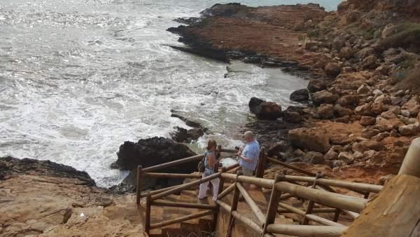 Un grupo de periodistas polacos también visito las playas de la provincia