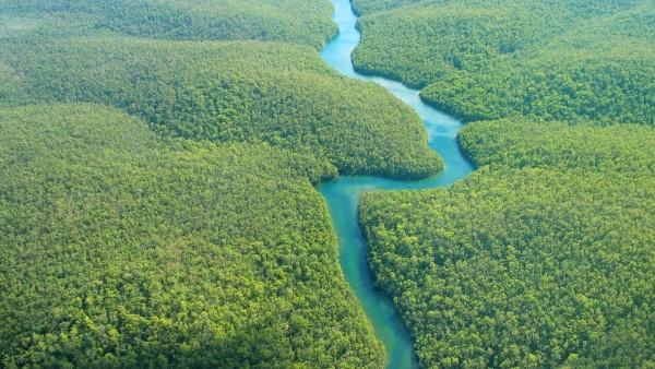 Río amazonas térmica