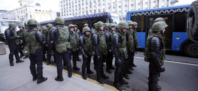 Marcha en Moscú