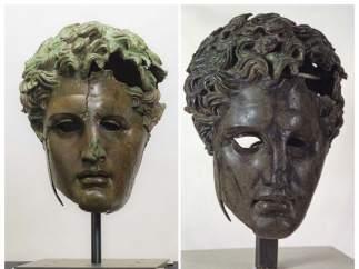Cabeza de bronce del rey helenístico Demetrio Poliorcetes, en el Prado