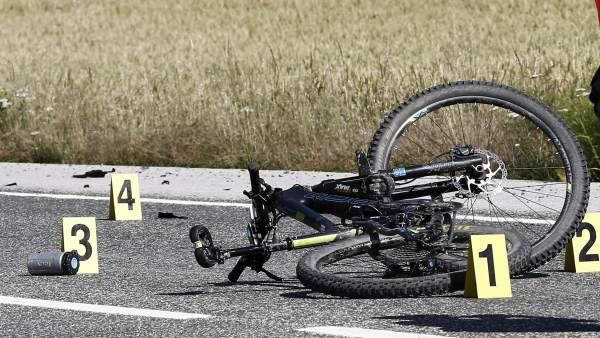 Ciclistas atropellados