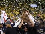 Los Warriors celebran el anillo