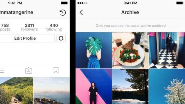 Archivo privado en Instagram