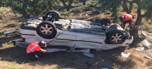 Imagen del accidente en Cascante