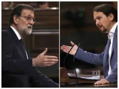 Rajoy e Iglesias en la moción de censura