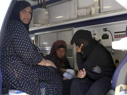 Cientos de personas intoxicadas en un campo de desplazados