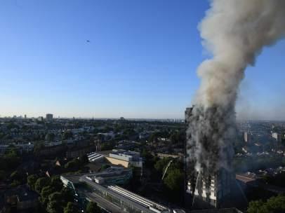 Imagen aérea del incendio