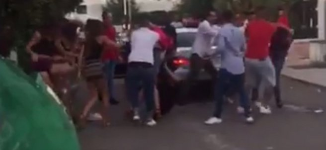 Brutal pelea en Marbella