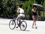 Ejercicio, sol, calor, temperaturas, buen tiempo, paseando, bicicleta.
