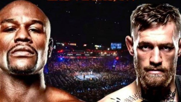 Cartel promocional de la pelea entre Floyd Mayweather Jr. y Conor McGregor