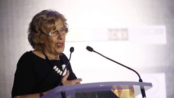 Manuela Carmena en la clausura del Foro Empresarial España-India