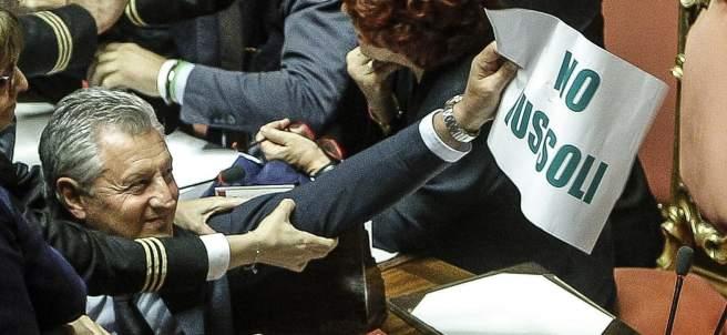 Bronca en el Senado italiano