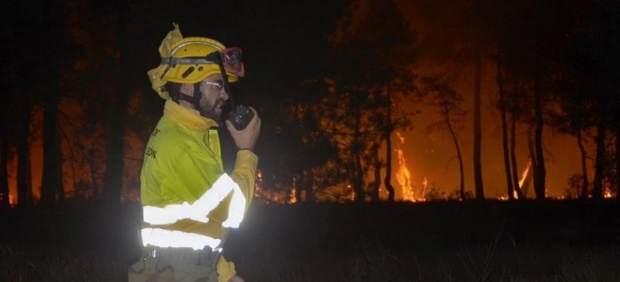 Incendio forestal en Navalilla, Segovia