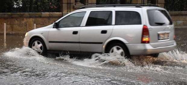 Tromba de agua y granizo en Soria