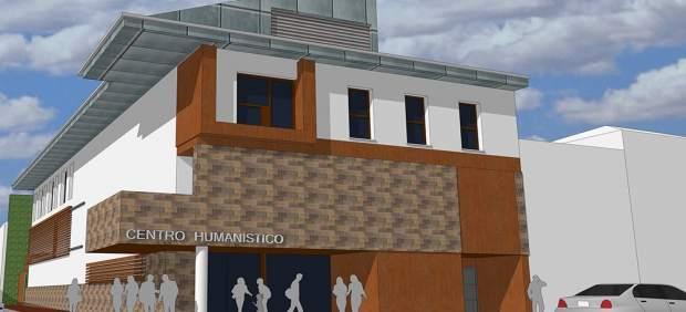 Infografía del nuevo centro humanístico de La Puebla de Alfindén