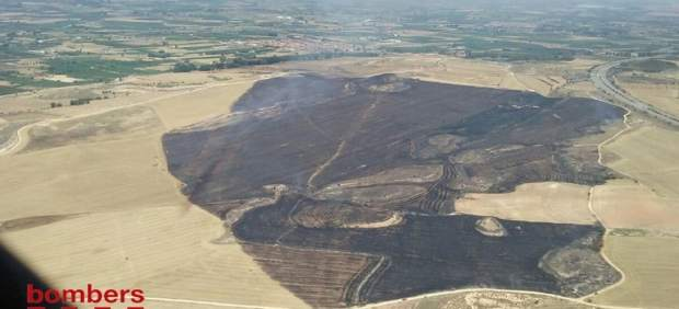 Incendio en Artesa de Lleida