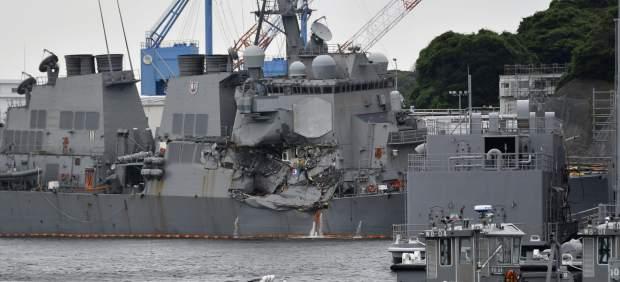 Hallados los cuerpos desaparecidos en el destructor estadounidense