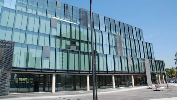 Edificio sede de Gallina Blanca en Barcelona.