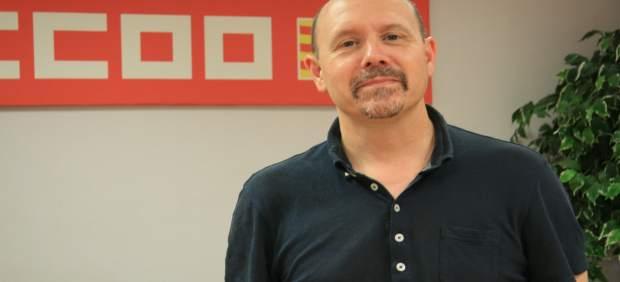 El secretario general de CC.OO.-Aragón, Manuel Pina.
