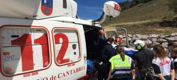 Accidente moto en Camaleño