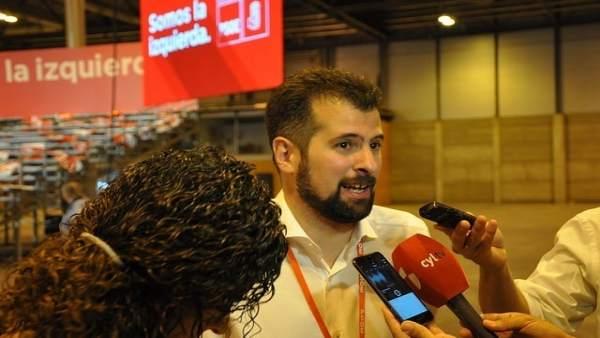 Luis Tudanca, durante el Congreso Federal en Madrid.