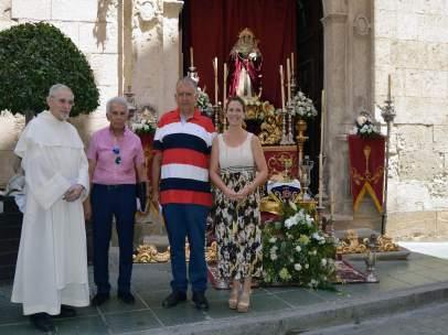 Altar de la Hermandad del Silencio de Almería por el Corpus Christi
