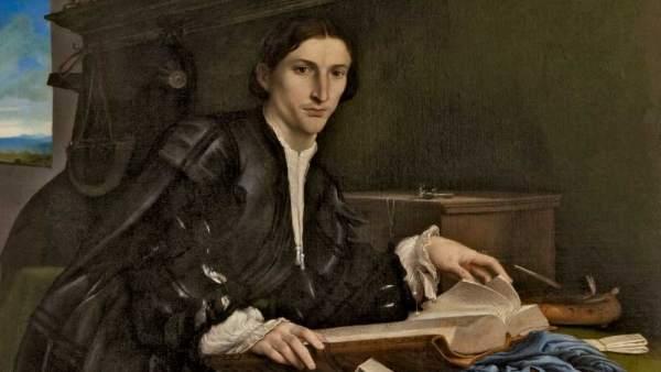 Retrato de un joven en un estudio, de Lorenzo Lotto