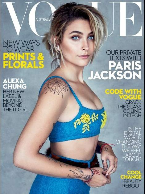Resultado de imagen para Paris Jackson debuta en la moda con una portada en 'Vogue'