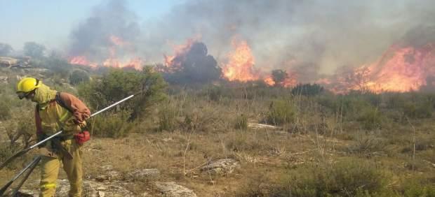 Imágenes incendio en Escatrón (Teruel)