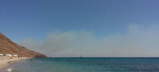 Incendio en el Parque Natural de Cabo de Gata-Níjar