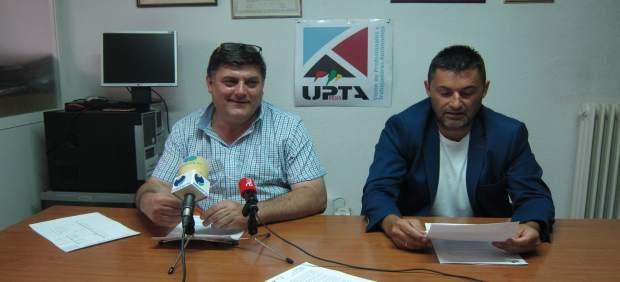 Javier Marzo y Eduardo Abad, en la rueda de prensa