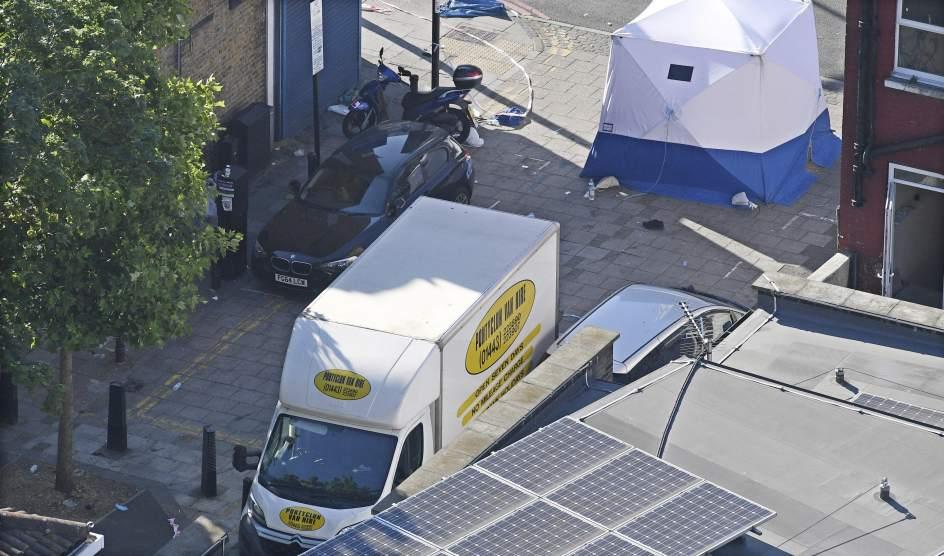 Furgoneta usada en el ataque de Finsbury Park