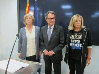 Exconsellera Irene Rigau, expresidente Artur Mas, exvicepresidenta Joana Ortega.