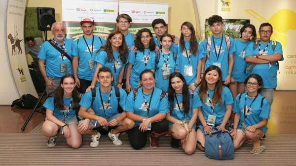 Los estudiantes del IEs Caleta en Madrid