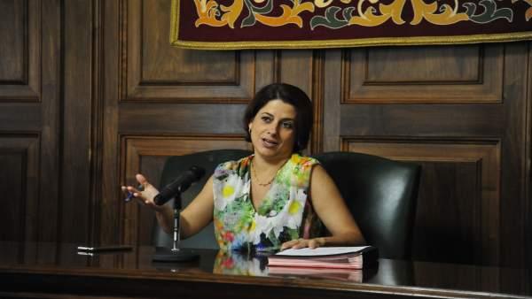 La alcaldesa de Teruel, Emma Buj