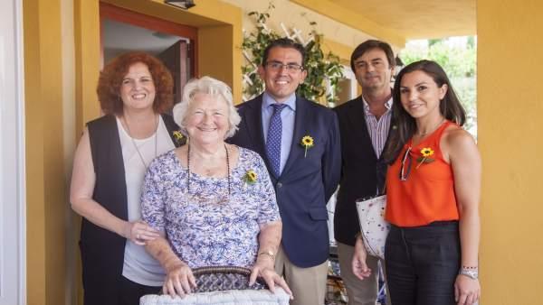 Firma del acuerdo entre Fundación Unicaja y Cudeca