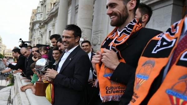 El Valencia Basket celebra la liga en la ciudad