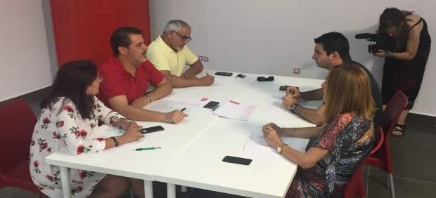 Reunión del Grupo Parlamentario Socialista de Huelva.